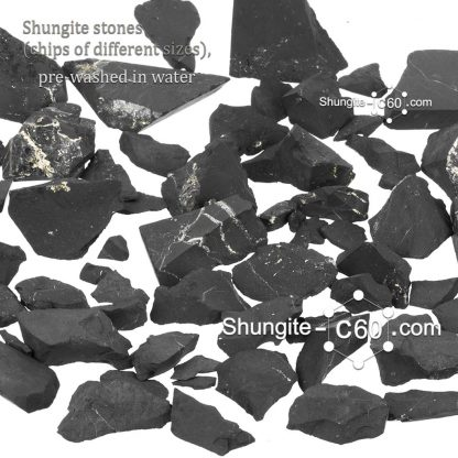 shungite for water raw stones