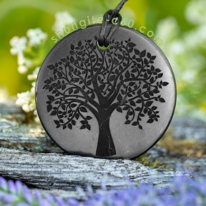 shungite pendant tree of life