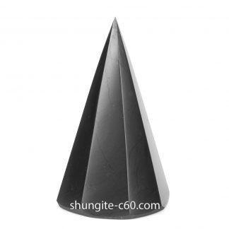 black shungite pyramid multi-faceted