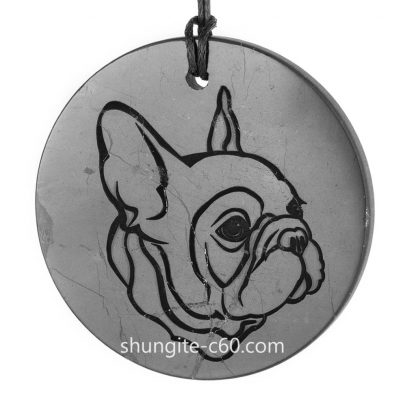 french bulldog necklace of natural stone