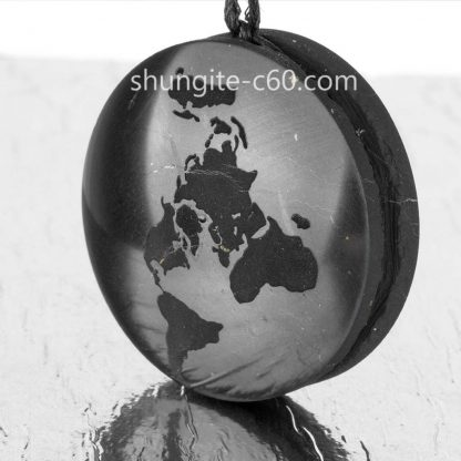 earth pendant of natural stone shungite
