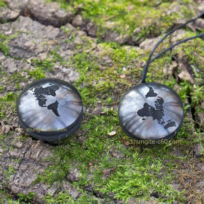 flat earth necklace of stone