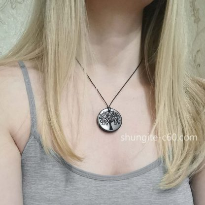 engraved stone necklace