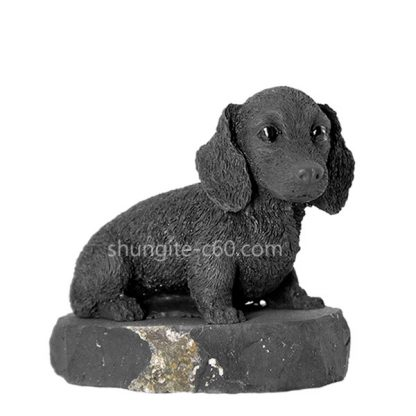 shungite figurine dachshnd dog