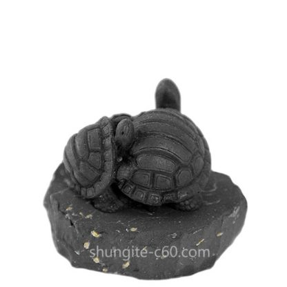 figurine made of shungite turtles
