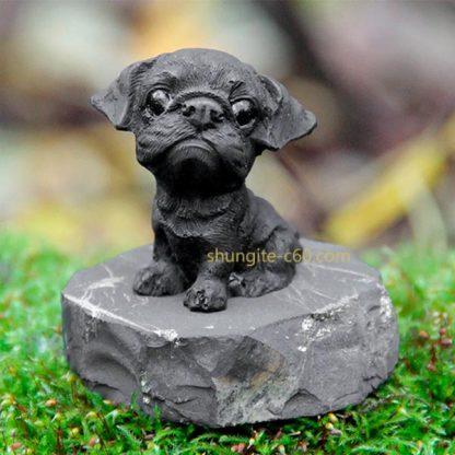 shungite figurine pug