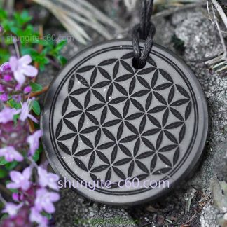 flower of life pendant engraved necklace
