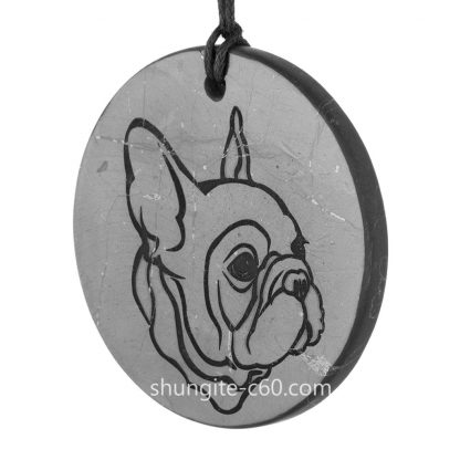 bulldog shungite pendant of stone shungite