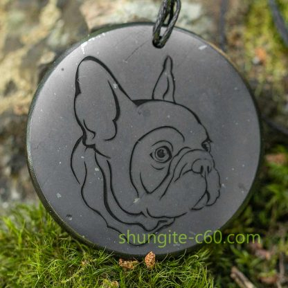 french bulldog pendant with engraved