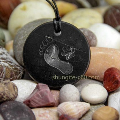 friendship necklace with dog footprints pendant