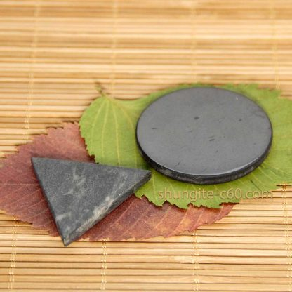 shungite circle and soapstone triangle