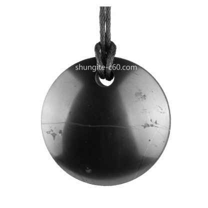 shungite stone necklace hemisphere