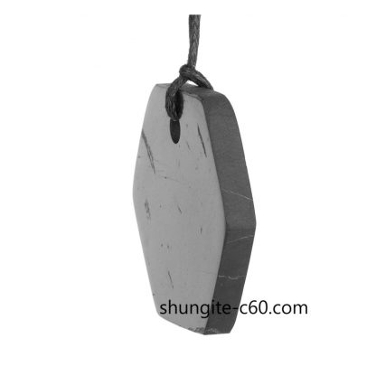 hexagon natural stone pendant black color