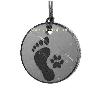 friendship necklace with engraved footprints