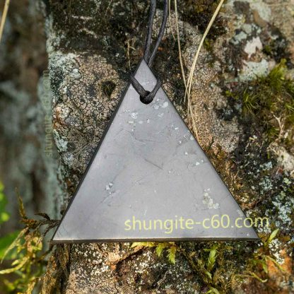 men's shungite pendant necklace-made of genuine shungite stone