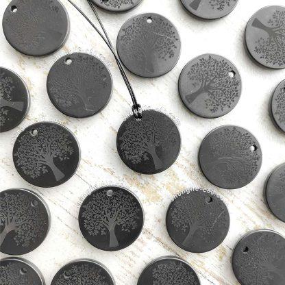 authentic shungite pendants engraved