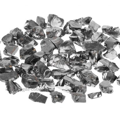 shungite rocks about size of 2-3 cmm