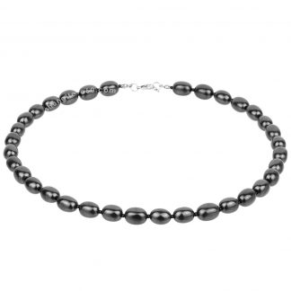 shungite bead necklace made of natural stone