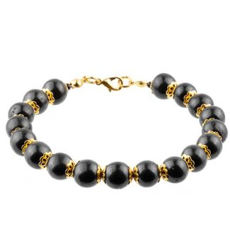 shungite bracelet not stretcable round beads