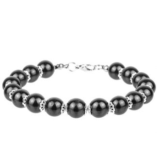 shungite bracelet on clasp silver