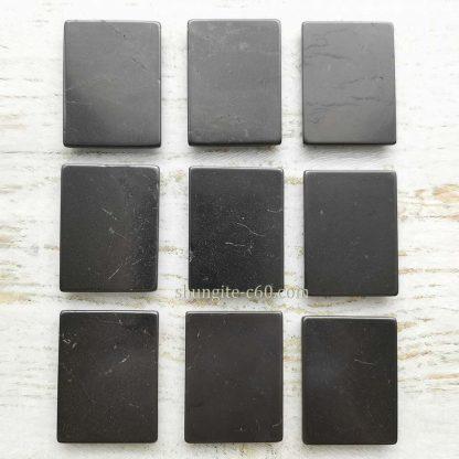 square shungite plates polished surface