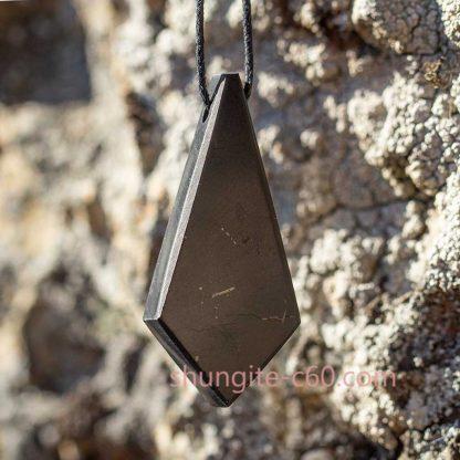 shungite crystal pendant