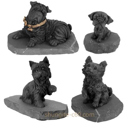 shungite dogs figurines