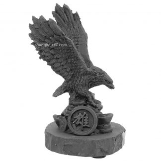 Figurine made of shungite feng shui eagle