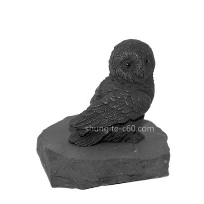 Siberian owl made of shungite