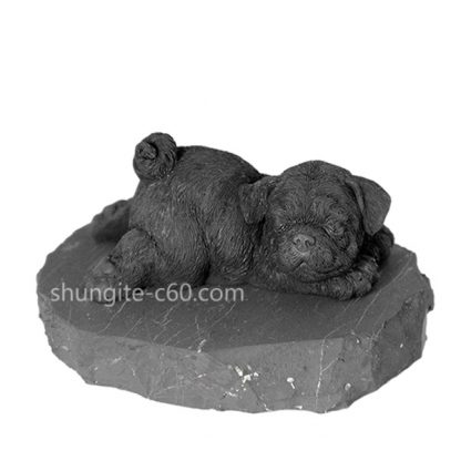 shungite figurine sleeping pug