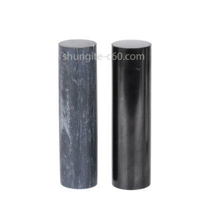 shungite and soapstone cylinders polished surface
