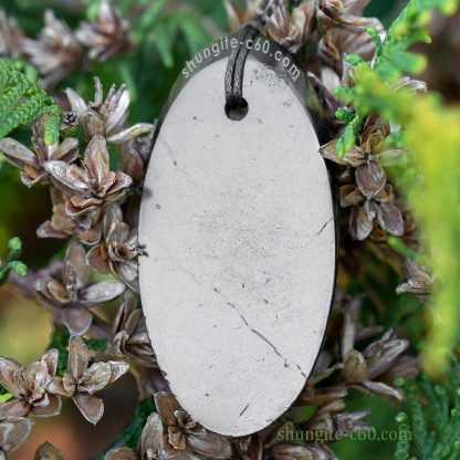 shungite pendant oval from karelia