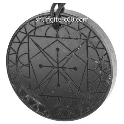 shungite pendant mandala instinct from Russia