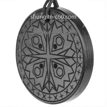 shungite pendant mandala compassion from Russia