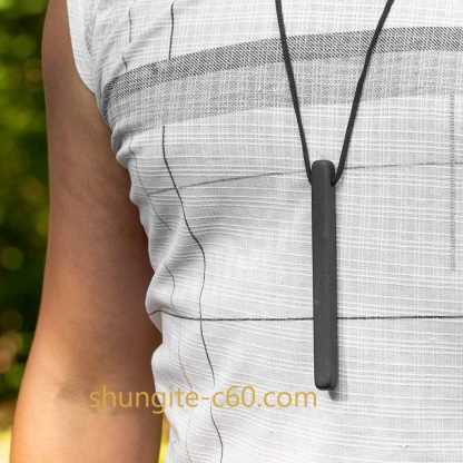 shungite stone necklace for men for protection