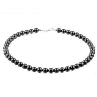 shungite emf protection necklace round beads