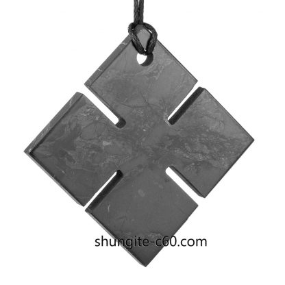 shungite necklace mens of black stone