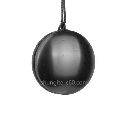 shungite emf protection pendant made of real stone