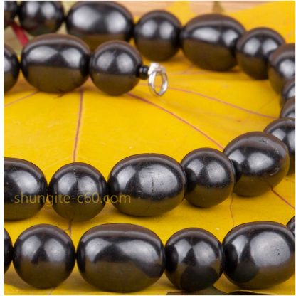 shungite necklace mixed beads large