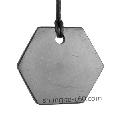 natural shungite crystal necklace for healing and protection