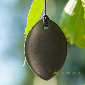 shungite mineral pendant
