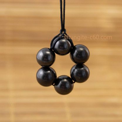 natural shungite stone beaded necklace