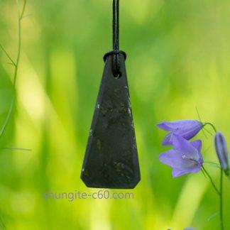 shungite stone pendant