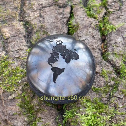 earth pendant of stone black shungite