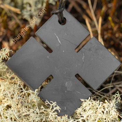 shungite cross pendant