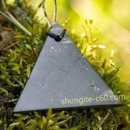 men's shungite pendant necklace of genuine shungite