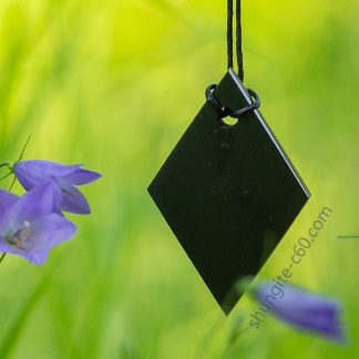 healing stone necklace of shungite rhombus
