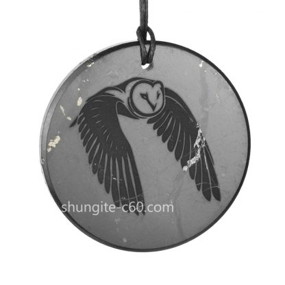 night bird made of natural stone shungite
