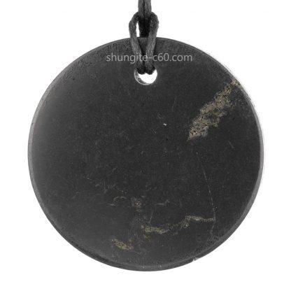 shungite pendant back view