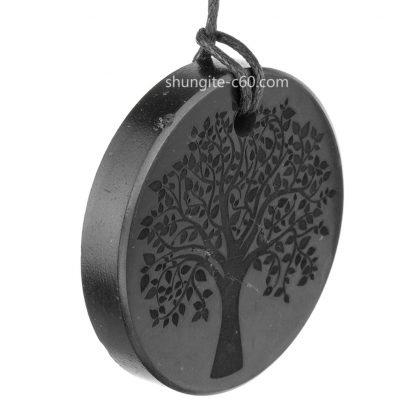 shungite pendant pendant has side irregularities